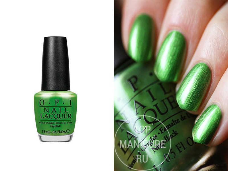 Зеленый лак для ногтей OPI My Gecko Does Tricks
