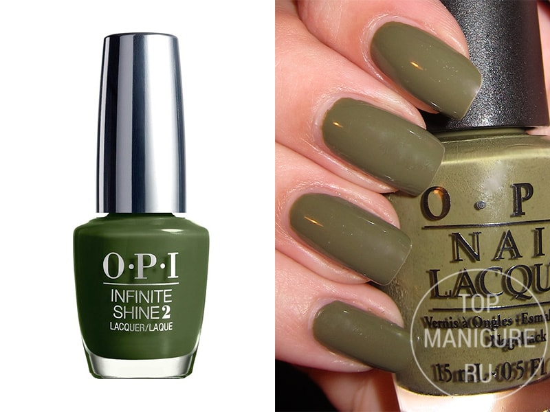 Зеленый лак для ногтей OPI Olive For Green