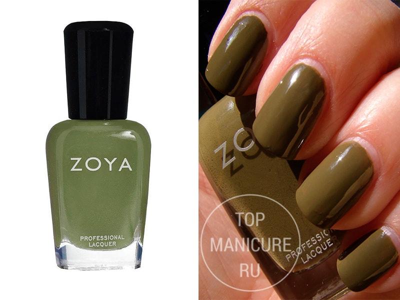 Зеленый лак для ногтей Zoya Dree