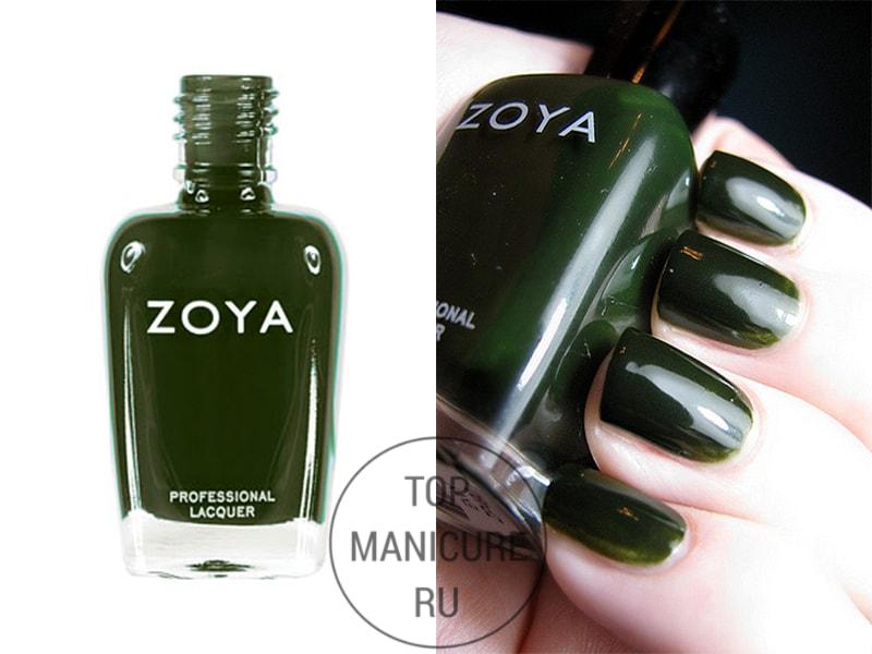 Зеленый лак для ногтей Zoya Envy