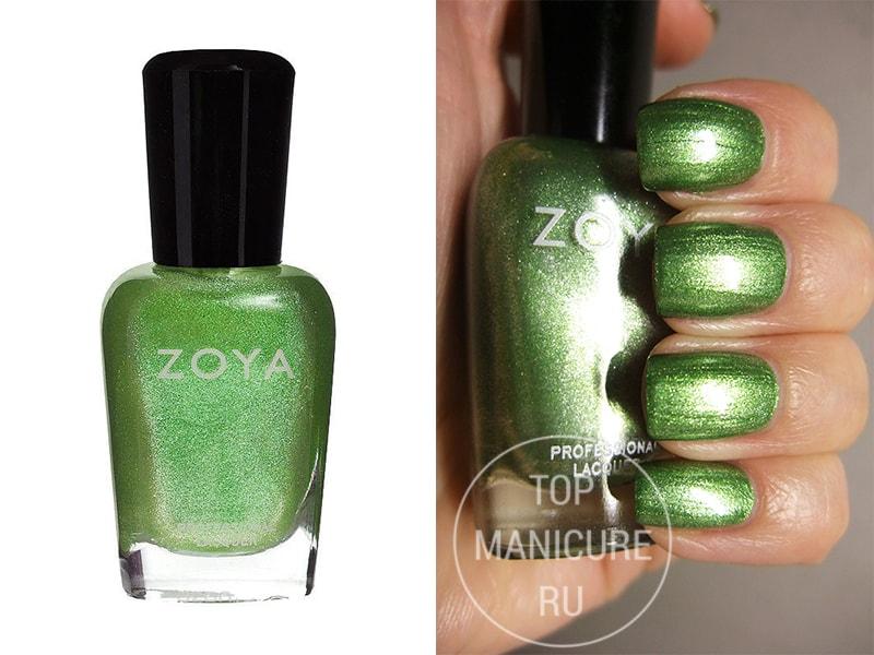 Зеленый лак для ногтей Zoya Meg