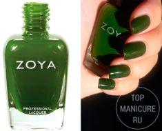 Зеленый лак для ногтей Zoya Shawn