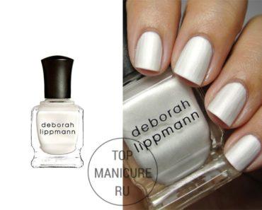 Белый лак для ногтей deborah lippmann pseudo silk kimono