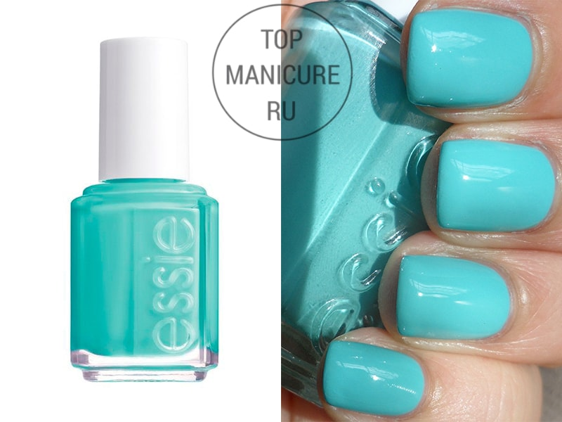 Бирюзовый лак для ногтей essie turquoise