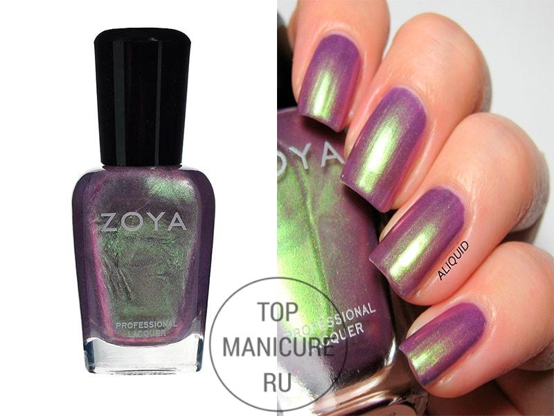 Голографический лак для ногтей zoya adina