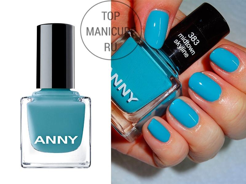 Голубой лак для ногтей anny midtown skyline