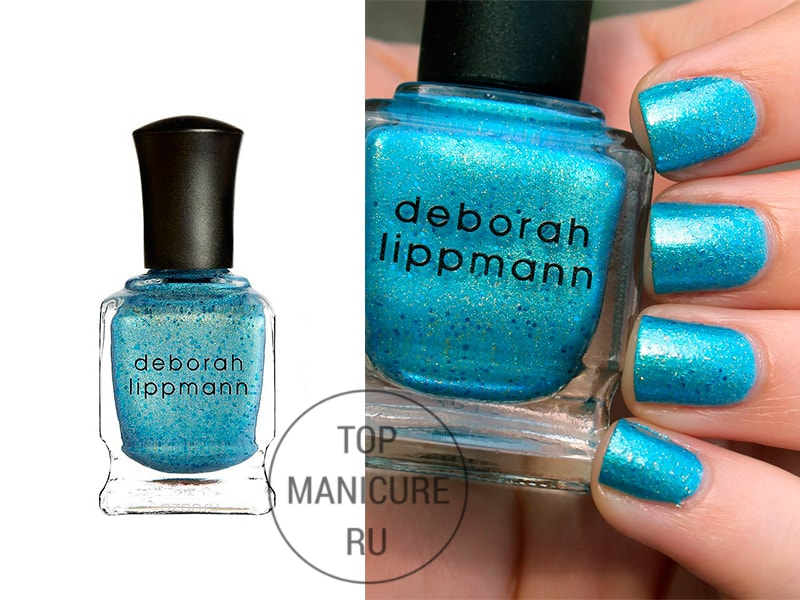 Голубой лак для ногтей deborah lippmann mermaids eyes