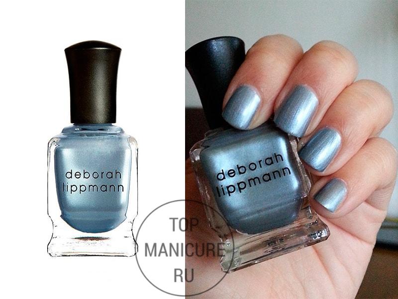 Голубой лак для ногтей deborah lippmann moon rendez vous