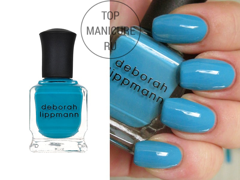 Голубой лак для ногтей deborah lippmann on the beach