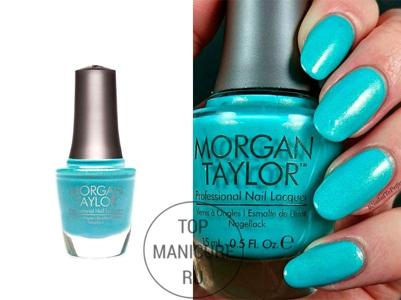 Голубой лак для ногтей morgan taylor party at the palace