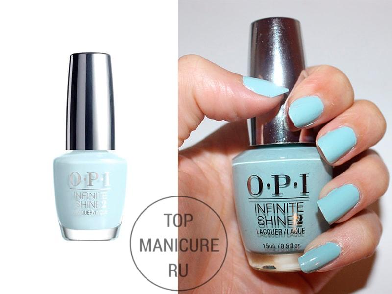 Голубой лак для ногтей opi eternally turquoise