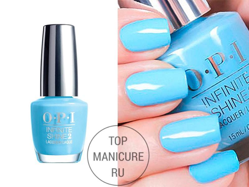 Голубой лак для ногтей opi to infinity blue