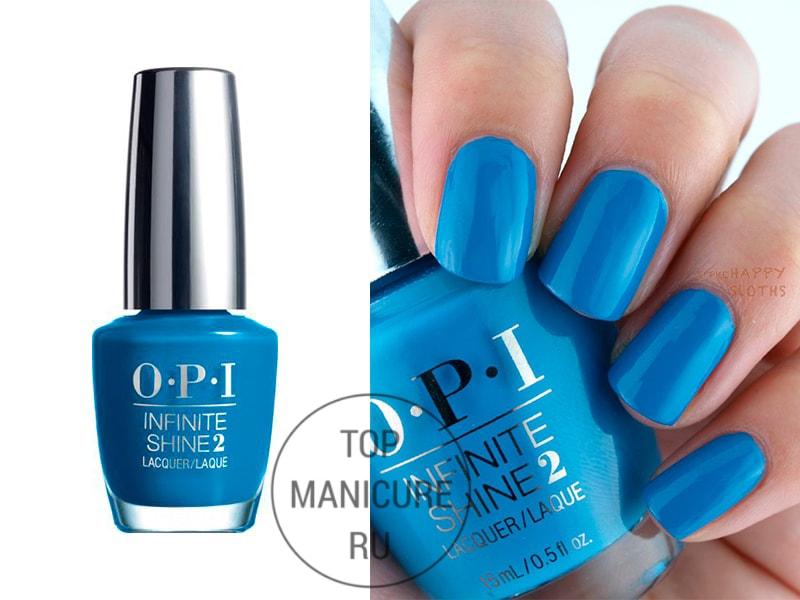 Голубой лак для ногтей opi wild blue yonder