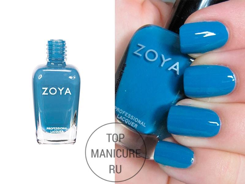 Голубой лак для ногтей zoya breezi
