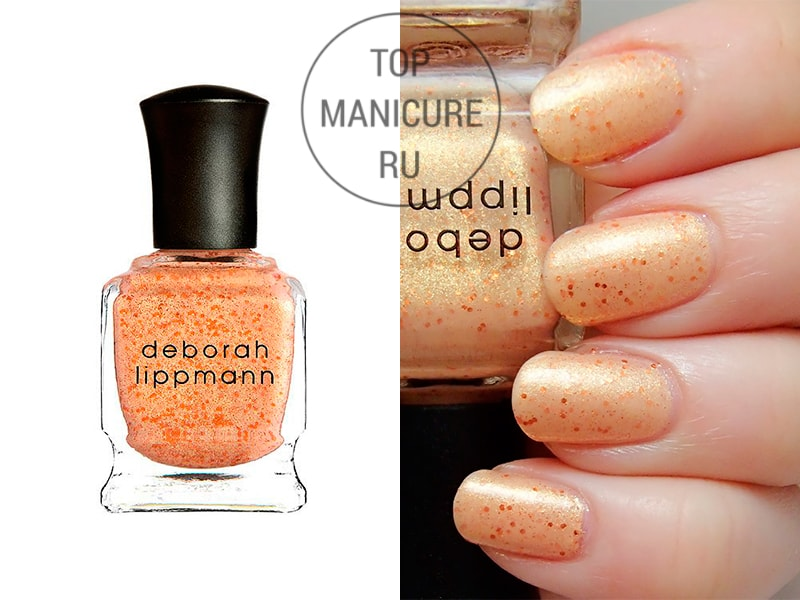 Персиковый лак для ногтей deborah lippmann million dollar mermaid