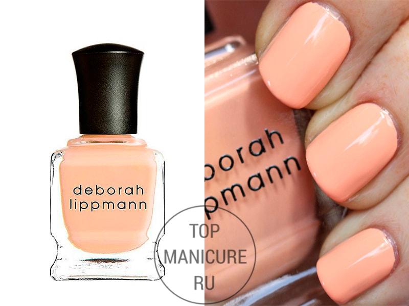 Персиковый лак для ногтей deborah lippmann tip toe through the tulips