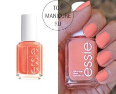 Персиковый лак для ногтей essie tart deco