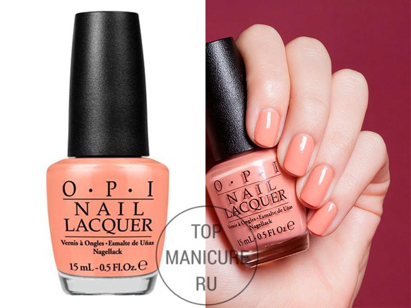 Персиковый лак для ногтей opi a great opera tunity