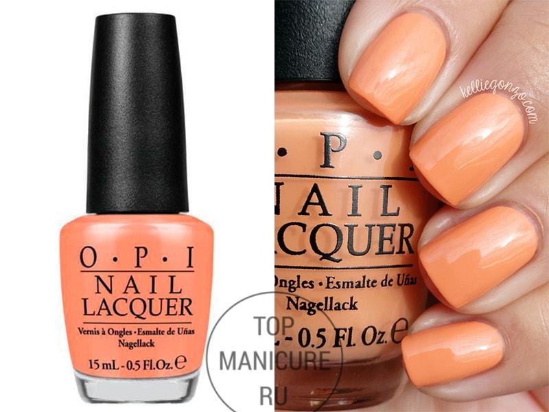 Персиковый лак для ногтей opi is mai tai crooked