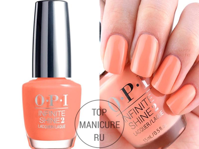 Персиковый лак для ногтей opi sunrise to sunset