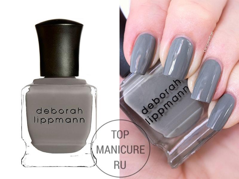 Серый лак для ногтей deborah lippmann desert moon
