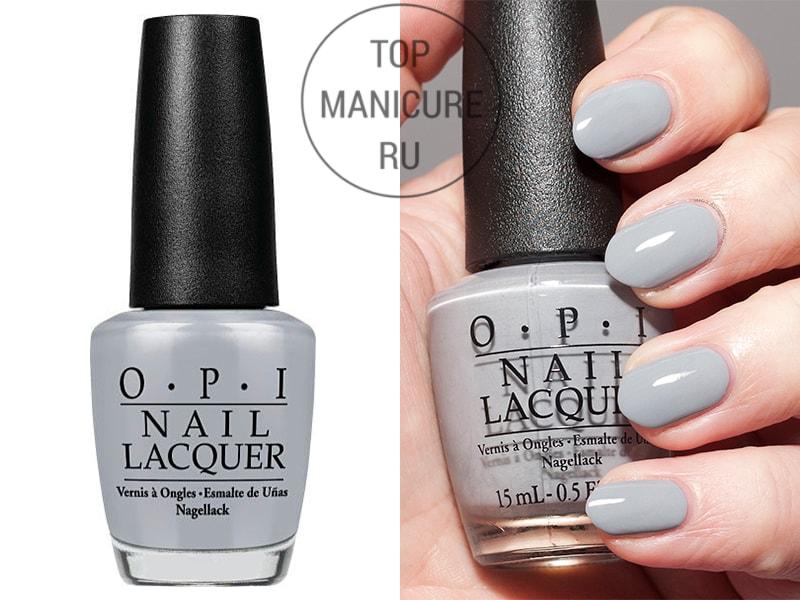 Серый лак для ногтей opi cement the deal
