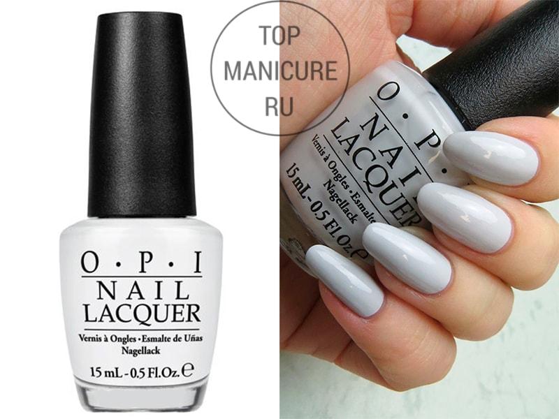 Серый лак для ногтей opi i cannoli wear opi