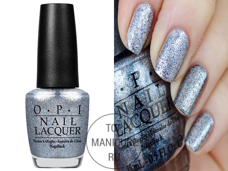 Серый лак для ногтей opi shine for me