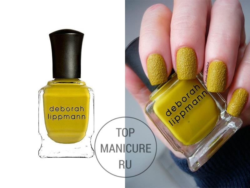 Желтый лак для ногтей deborah lippmann i wanna be sedated