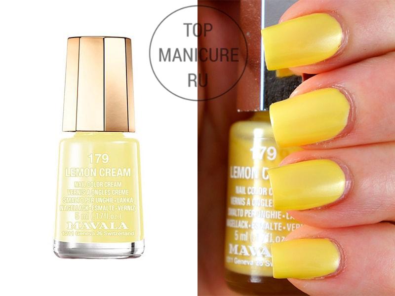 Желтый лак для ногтей mavala lemon cream