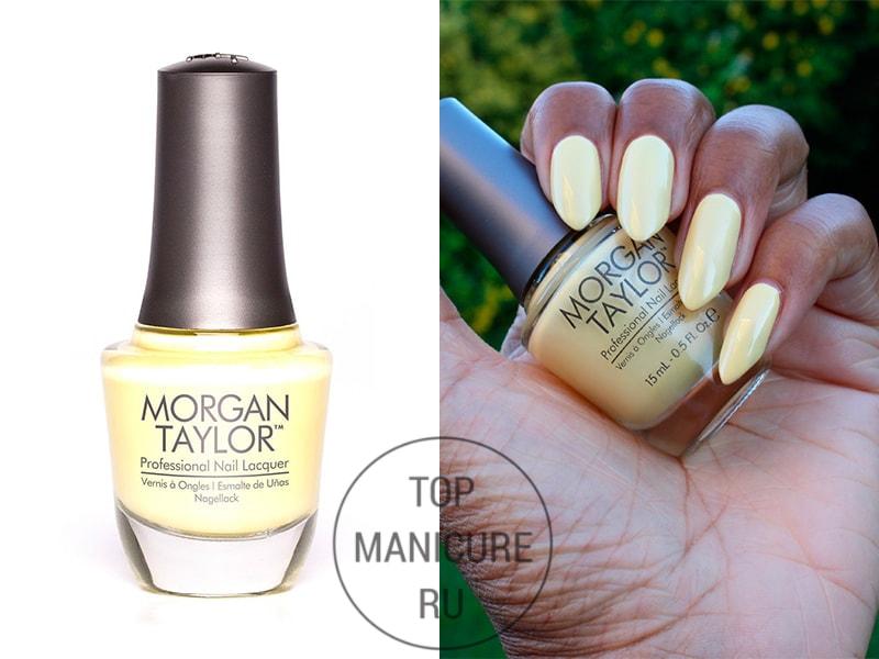 Желтый лак для ногтей morgan taylor ahead of the game