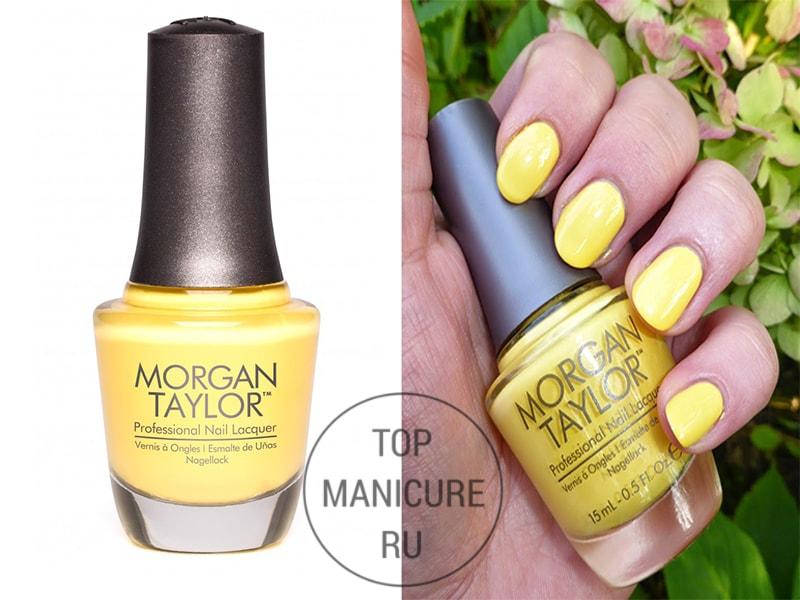 Желтый лак для ногтей morgan taylor doo wop