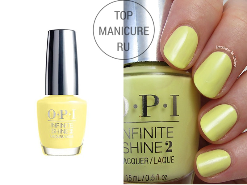 Желтый лак для ногтей opi bee mine forever