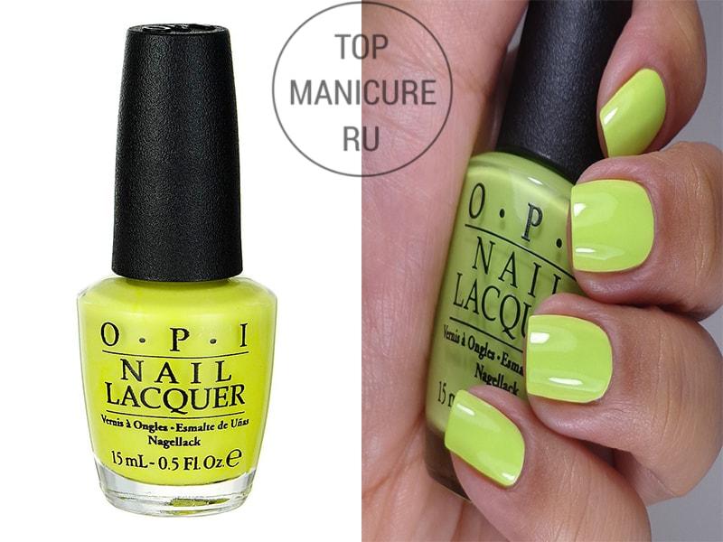 Желтый лак для ногтей opi life gave me lemons
