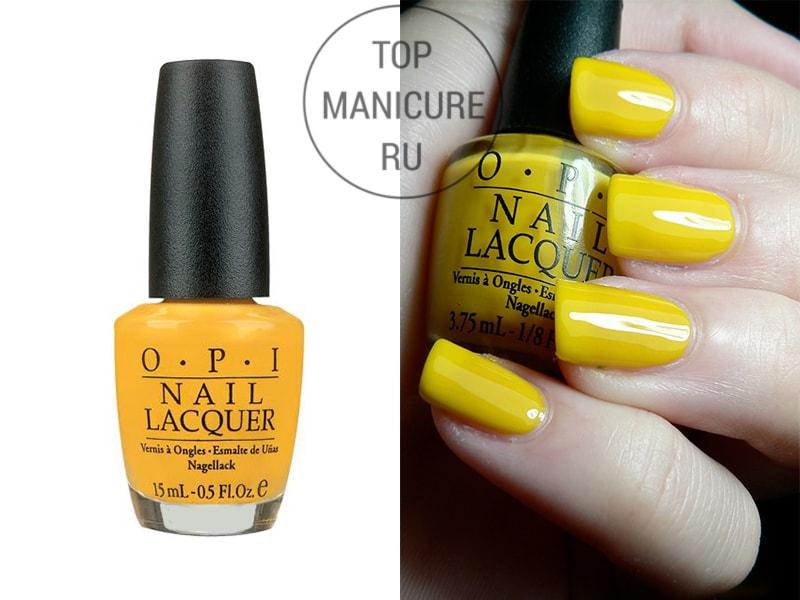 Желтый лак для ногтей opi need sunglasses 2005
