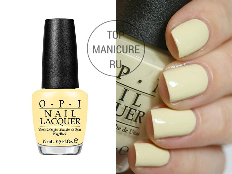 Желтый лак для ногтей opi one chic chick
