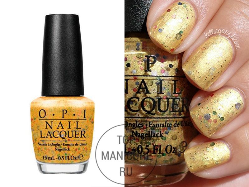 Желтый лак для ногтей opi pineapples have peelings too