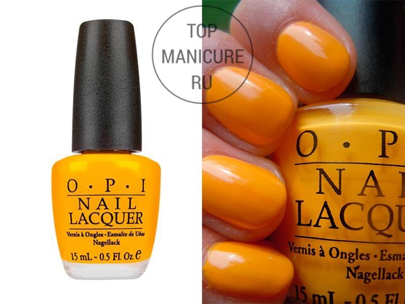 Желтый лак для ногтей opi the it color