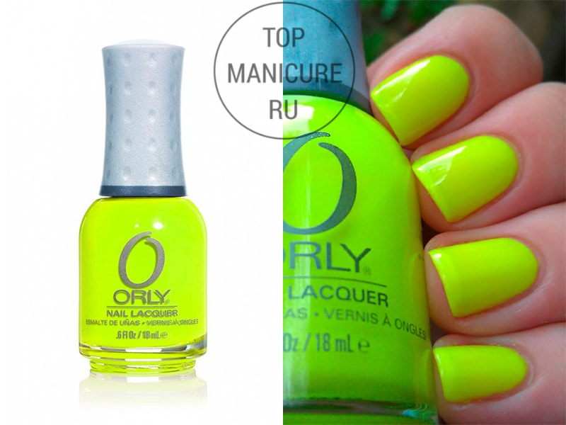 Желтый лак для ногтей orly glowstick