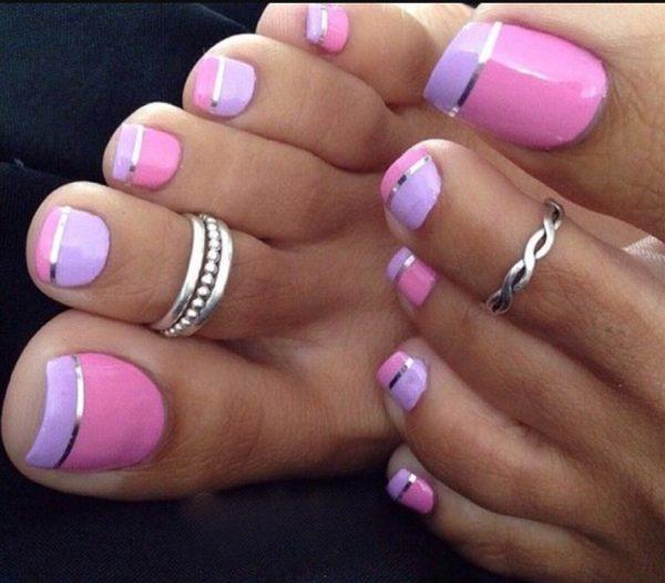 Дизайн ногтей: педикюр - фото, новинки