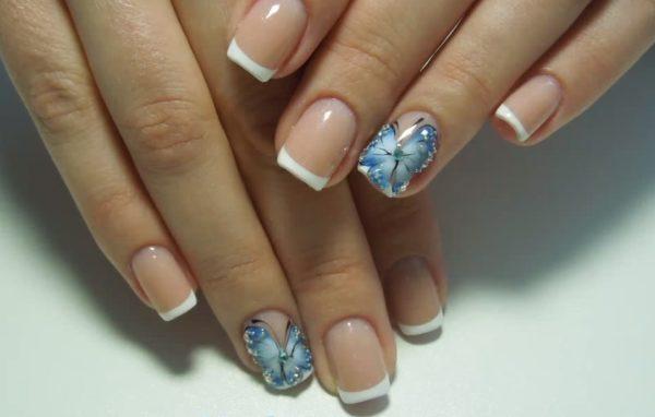 Дизайн ногтей с бабочками: фото