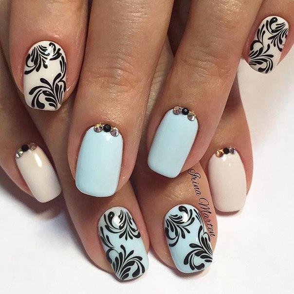 Вензеля на ногтях пошагово фото на короткие ногти
