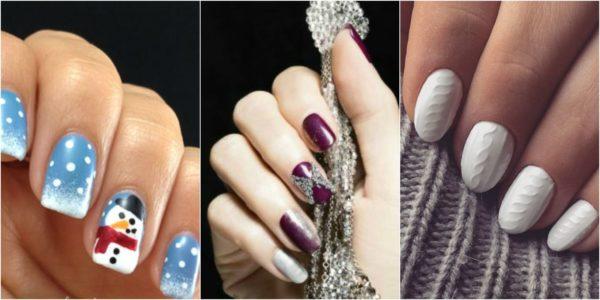 фото зимний дизайн ногтей