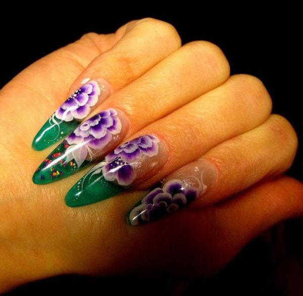 Китайская роспись на ногтях: фото