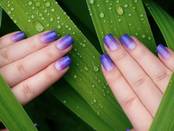 Разноцветный френч на ногтях: фото