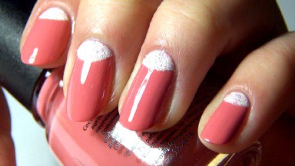 зимний дизайн ногтей 2018 с лунками