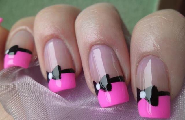 френч розовый с черным