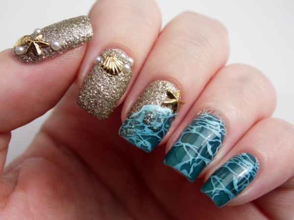 дизайн ногтей ракушка