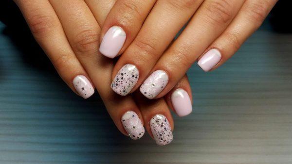 свадебный маникюр на короткие ногти модные тенденции