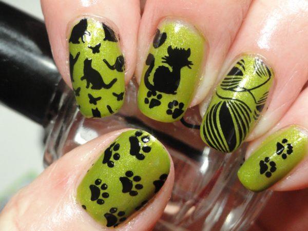 Маникюр с кошками: оригинальный дизайн ногтей, фото